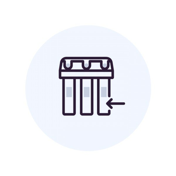 Установка  фильтра  колонного типа 13х54